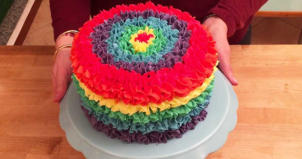 I Thought It Was A Usual Rainbow Cake
